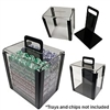 1000 Chip Capacity Clear Carrier - DiscountCasinoGear.com