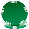 5 Spot Blank 11.5g Poker Chip - Green - DiscountCasinoGear.com