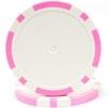 11.5g Classic Eight Stripe Dual Color Chip-Pink - DiscountCasinoGear.com