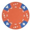 14 Gram Orange Tri-Color Ace King Suited Chip - DiscountCasinoGear.com