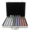 1000 11.5 Gram DICE-STRIPED Chips in ALUM Case - DiscountCasinoGear.com