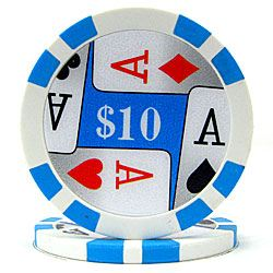 Poker Chips with Denominations